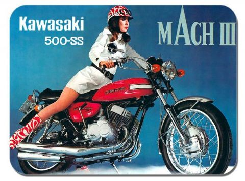 Vintage 500 H1 Mach III 3 Brochure Mouse Mat. Classic Bike Motorcycle Mouse pad